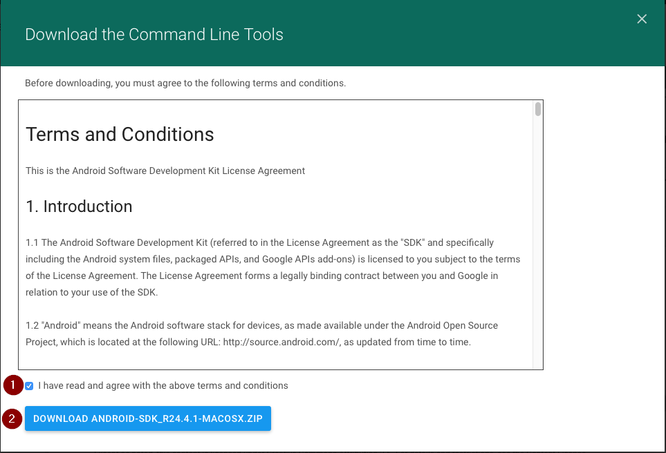 android sdk license agreement