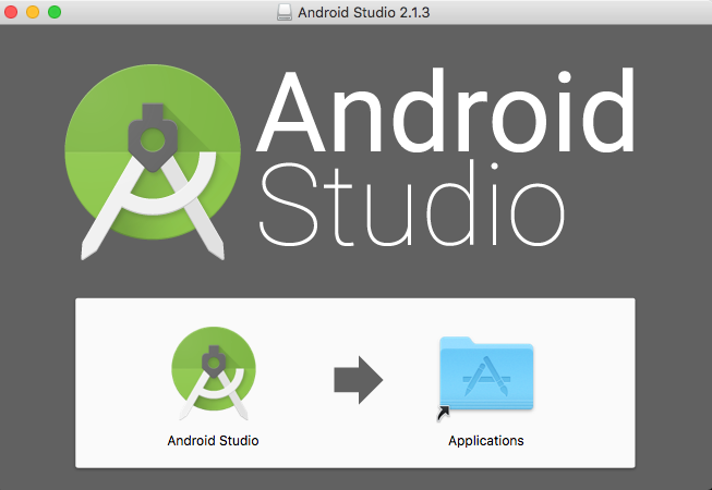 Android Studio icon drag to Applications
