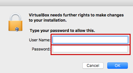 username and password prompt
