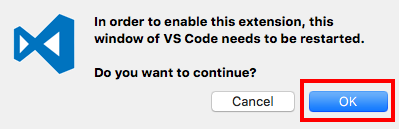 VSCode Extension Enable Confirmation