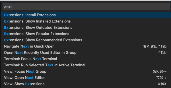 VSCode Open Extensions: Install Extensions