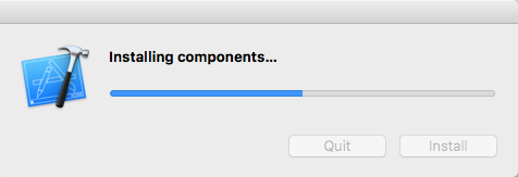 installing xcode additional components
