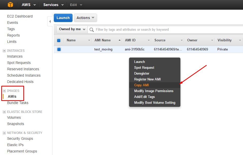 aws-console-copy-image-amazon-ec2-instance